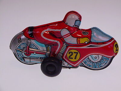 "GSMOTO NEW PENNY TOYS "" RACER 27"" T.T.Japan, 11cm, WIND UP, SEHR GUT/VERY GOOD"