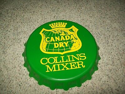 """CANADA DRY COLLINS MIXER TRAY BOTTLECAP 1960's VERY NICE CONDITION 13 1/4"""""""