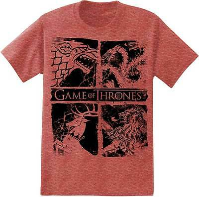 Game Of Thrones Four House Sigils Targaryen Baratheon T Tee Shirt S-2Xl