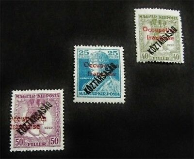 nystamps Hungary Stamp # 1N32//1N35 Mint OG H $71
