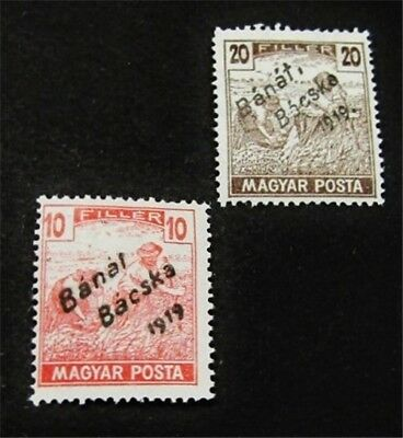 nystamps Hungary Stamp # 10N22.10N23 Mint OG H $60