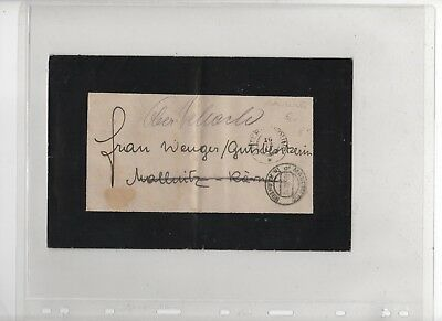 Austria 1910 mourning cover