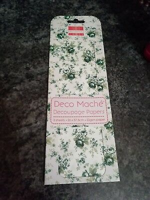 DM083 New First Edition Deco Mache Papers Peach Rose