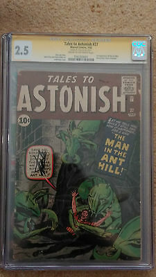 Tales To Astonish #27 - Cgc 2.5 Signature Series - Signed Stan Lee-1St Ant-Man