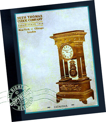 Seth Thomas Clock Co 1907 CATALOG Antique Time Pieces 100s Samples mantel + more