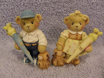 German School Boy & Girl Prototype Both SIGNED by PH Cherished Teddies