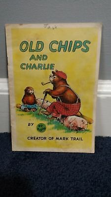 """1954 BOOK """"OLD CHIPS and CHARLIE"""" by ED DODD - COCA-COLA comic book coke"""