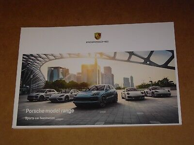 2017 Porsche Model Range Sales Brochure Mint! 62 Pages