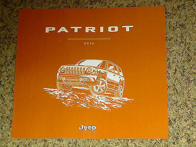 2016 Jeep Patriot Sales Brochure Mint! 38 Pages