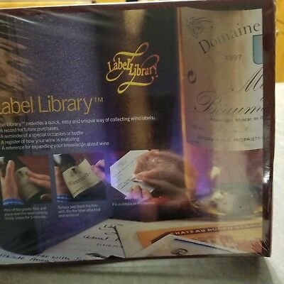 Wine Label Library Album Binder Collector for Wine Connoisseurs / Oenophiles New