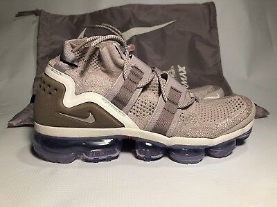 Nike Air Vapormax Flyknit FK Utility SZ 10  MOON PARTICLE Beige AH6834 205 Mens