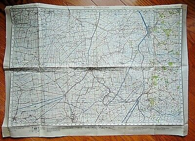 "1942 ORIGINAL 22"" x 30"" WW2 ""WISBECH & KING'S LYNN"" UK WAR OFFICE MAP"