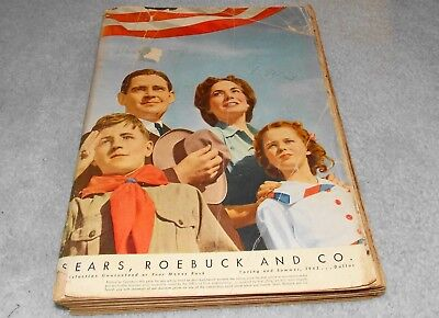 Original 1943 Sears Roebuck and Co Catalog-Spring Summer-WWII Era