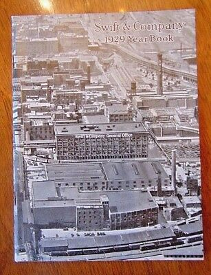 Vintage 1929 Swift Meats Company Report Year Book Chicago Il
