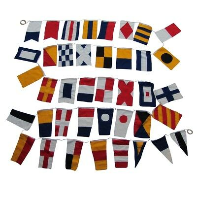 Set of 40 International Maritime Nautical Marine Signal Code Flags Boating Flag