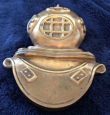 Antique Solid Yellow Brass Deep Sea Diver Helmet Door Knocker