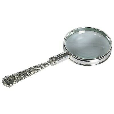 Authentic Models AC114 Rococo Magnifier Silver Magnifying Glass