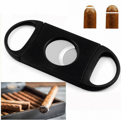1PCS Cigar Cutter Stainless Steel Double Blades Guillotine Knife Pocket Scissors