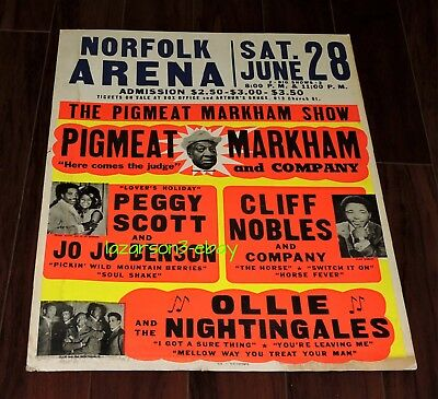 Pigmeat Markham Rare Original Boxing Style  Concert Poster 1969