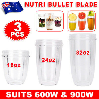 NUTRIBULLET COLOSSAL BIG CUP 18/24/32OZ- SUITS All 600/900W Nutri Bullet Models