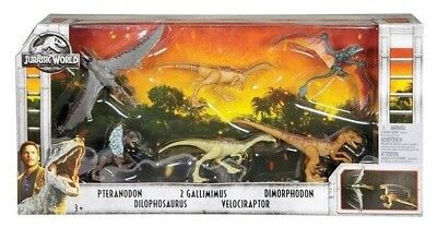 Jurassic Park | World Legacy Collection 6 Dinosaur Toy Pack Box Set 6 Toys NEW