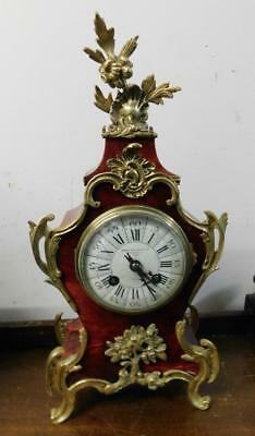french boulle style striking mantel clock