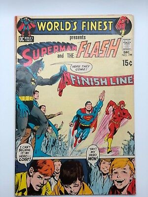 WORLDS FINEST 199 1970  High Grade SUPERMAN BATMAN FLASH DC