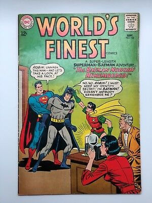 WORLDS FINEST 136 1963  High Grade SUPERMAN BATMAN ROBIN DC