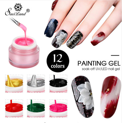 Saviland Lucky Gel Painting Polish Colors Draw UV Lacquer for Nail Art Design