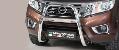 Bull Bar Nissan Navara Np 300 2016> Medium Bar Alto Inox