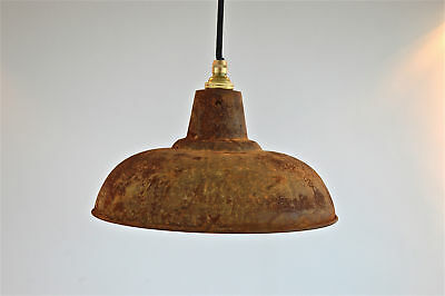 Large polished copper hanging pendant light distressed copper finish PCG3 Lamps Antiques