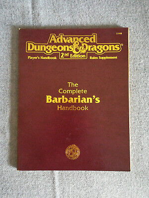AD&D / Advanced Dungeons & Dragons 2nd Edition The Complete Barbarian's Handbook