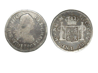 Spanish Silver coin , 222 year old coin, Colonial Silver