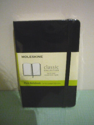 New moleskine classic collection hard cover plain black notebook  - pocket 9x14