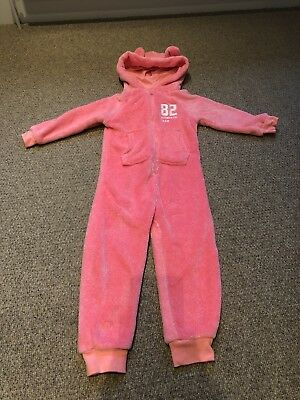 Girls Next All In One Pink Fleece Age 3 Bright Pink