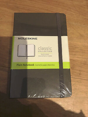 New moleskine classic collection hard cover plain brown notebook  - pocket 9x14