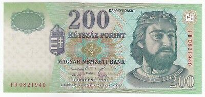 Hungary 200 Forint 1998 Hungarian National Banknote Pick: 178a In UNC