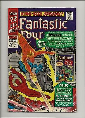 Fantastic Four King-Size Special 4 Fine 6.0 First GA Human Torch Key FF Annual