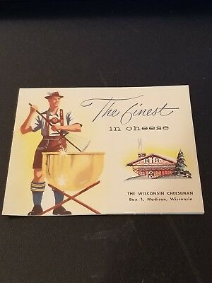 Vintage The Wisconsin Cheeseman Madison Wisconsin Cheese Brochure