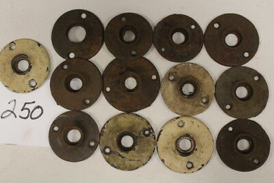#250 – 13 Misc Round Back Plates / Escutcheons for Porcelain / Glass Door Knobs