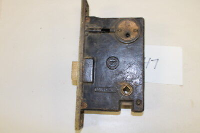 #047 – Polished Brass Mortise Door Lock Signed Penn, 19th C.