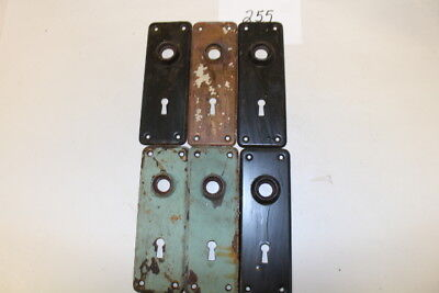 #255 – Lot of 7 Door Knob Back Plates / Escutcheons, 19th C.