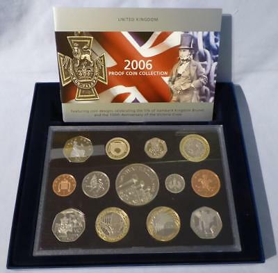 2006 Uk Proof Coin Collection - Original Box & Certificated Booklet