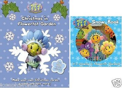 NEW x  2  FIFI and the FLOWERTOT - SNOW BOARD shake book & CHRISTMAS in GARDEN