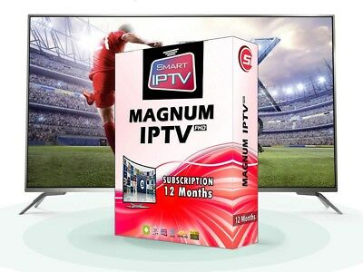 BEST.IPTV Magnum 12mois,7600chaines&vods SD HD FHD.sur smart tv,pc,Gsm,tablette
