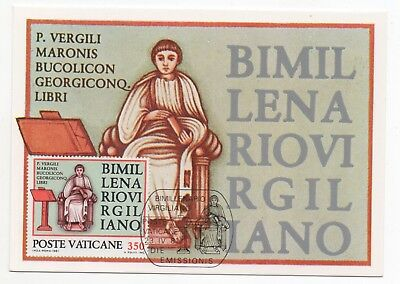 1981 VATICAN CITY First Day Cover BIMILLENARY OF VIRGIL Postcard VERGILIANO