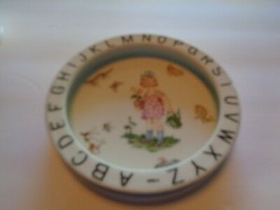 Antique Alphabet Baby Plate Bowl Dish