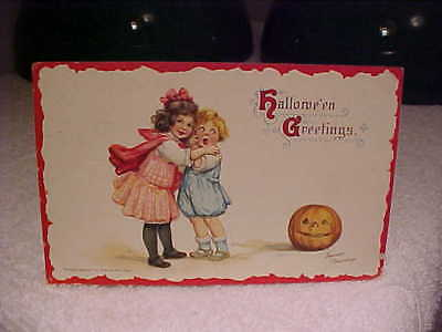 Frances Brundage Halloween Postcard  Embossed