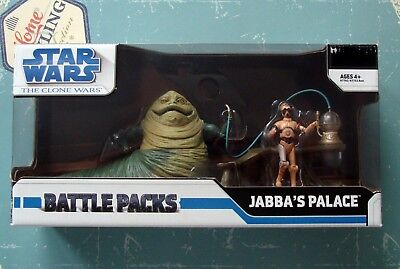 Star Wars The Clone Wars Jabba's Palace Battle Pack