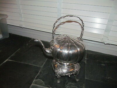 Superb Victorian Large Silver Plate Spirit Kettle & Stand